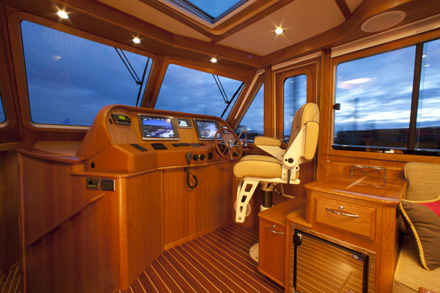 These two images of the new Sabre 48 Salon ExpressSalon and Helm show the ...